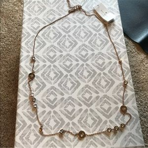 Kate spade rose gold long necklace new NWT